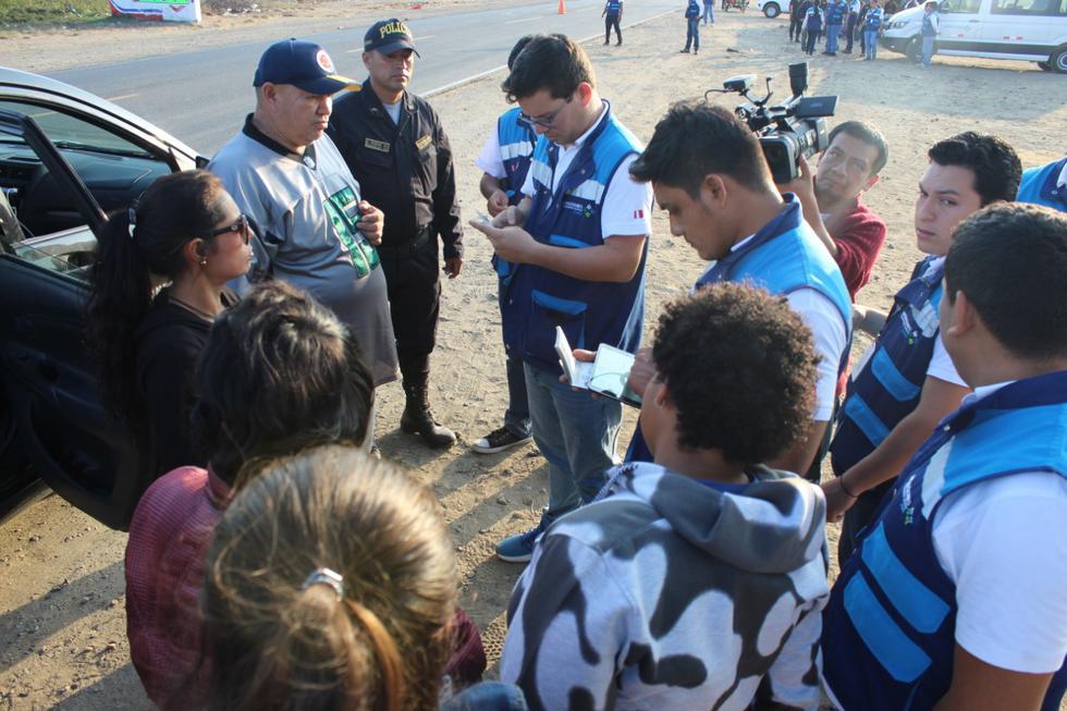 Los extranjeros fueron conducidos al puesto de control migratorio del Centro Binacional de Atención Fronteriza (Cebaf). (Foto: Difusión)