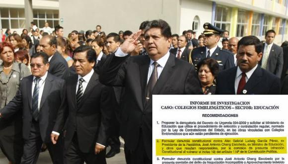 Alan García y José Antonio Chang en la mira de Gana Perú. (Perú21)