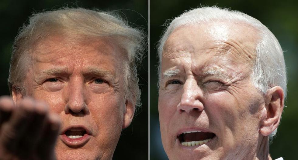 El 3 de noviembre los estadounidenses elegirán a su próximo presidente entre Biden y Trump. (Fotos: Jim WATSON and Dominick Reuter / AFP).