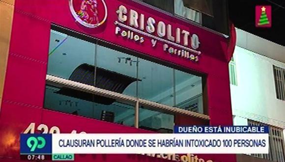 Municipalidad de La Perla clausuró de manera temporal pollería tras denuncia de presunta intoxicación. (Foto: Captura Latina)