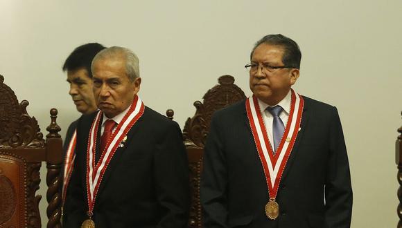 El fiscal de la Nación, Pedro Chávarry, ha sido implicado en la banda Los Cuellos Blancos del Puerto en un informe que recibió Pablo Sánchez. (Foto: USI)