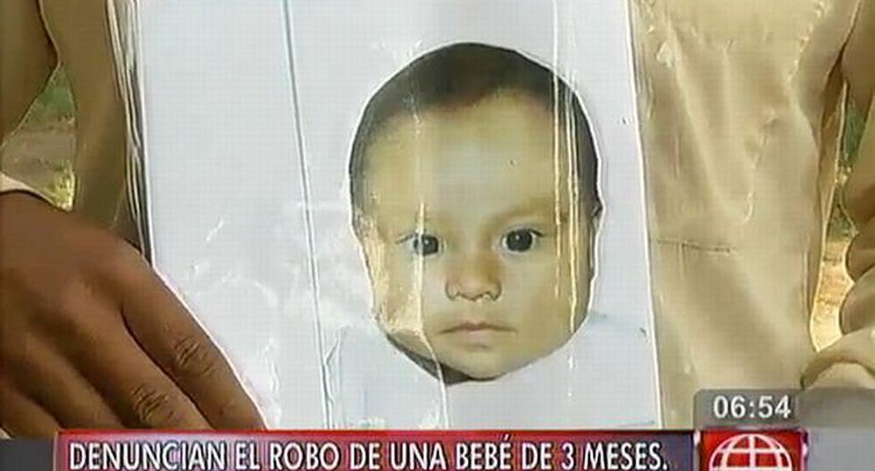 La recién nacida de tres meses fue robada en Los Olivos. (América TV)