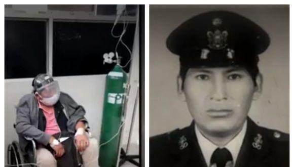 La familia del policía en retiro Antonio Hancco Yanna señala que su estado de salud es delicado. (Captura: América Noticias)