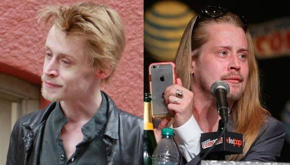 Macaulay Culkin reaparece con nuevo look. (AFP)
