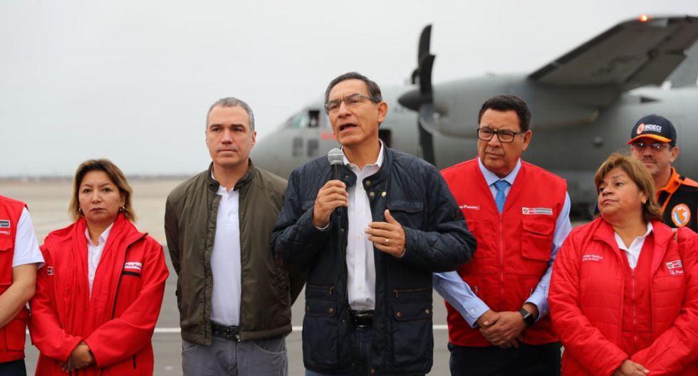 El mandatario Martín Vizcarra aseguró que retornará a Lima al mediodía para participar de reunión con sus homólogos de Colombia, Ecuador y Bolivia. (Foto: Presidencia)