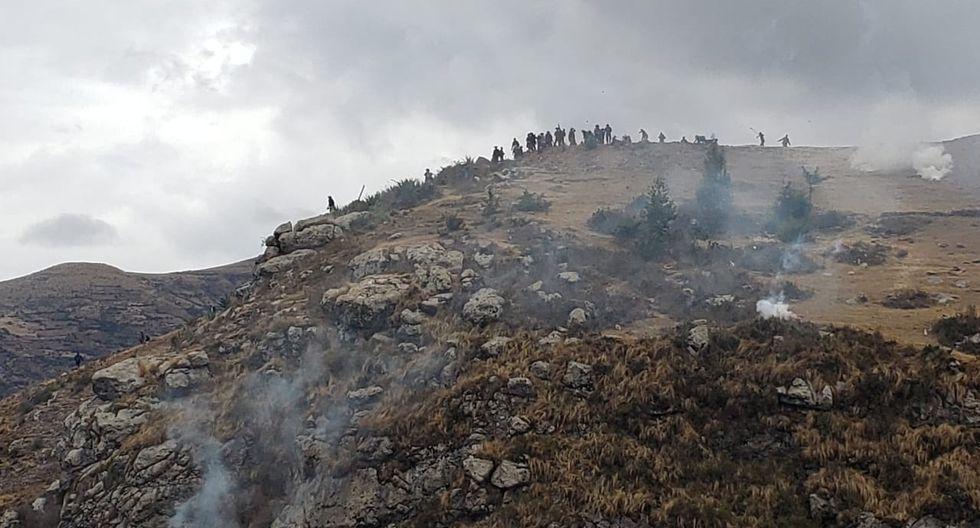 Protestas contra corredor minero en Chumbivilcas. (PNP)