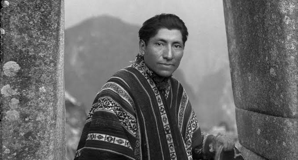 Autorretrato de Martín Chambi en Machu Picchu, Cusco. (Fotografías proporcionadas por los herederos de Martín Chambi)