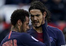 Cavani y Thiago Silva no volverían a la concentración del PSG para la reanudación de la Ligue 1