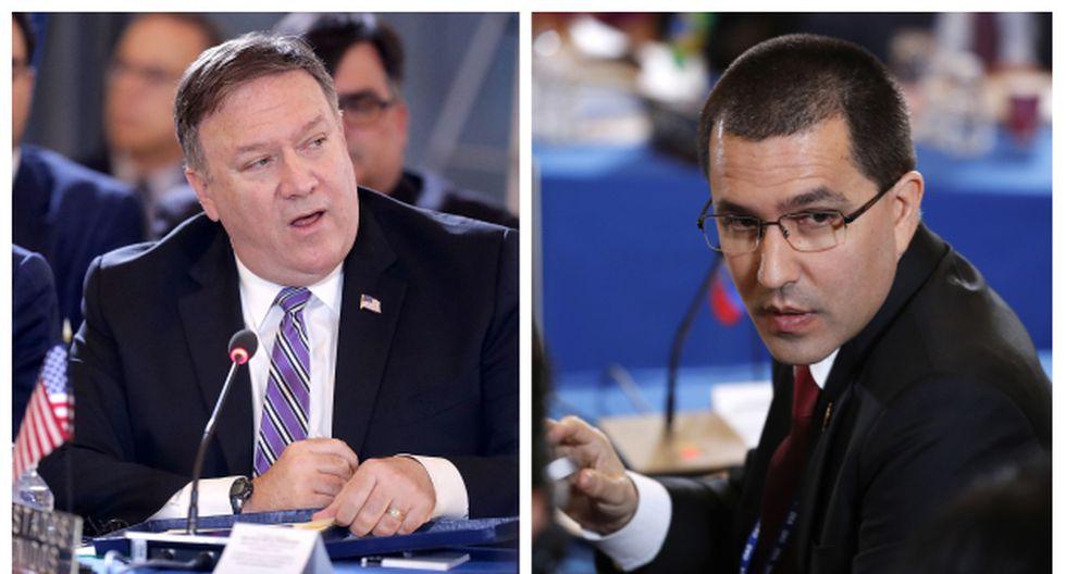 Mike Pompeo, secretario de Estado de EE.UU., se pronunció sobre la crisis en Venezuela. En tanto, el chavista Jorge Arreaza culpó a Washington de la crisis que se viv een su país (AFP/AP).