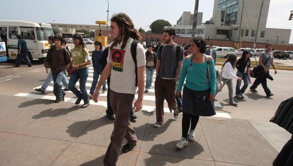 Estudiantes no quieren la ley. (Martín Pauca)