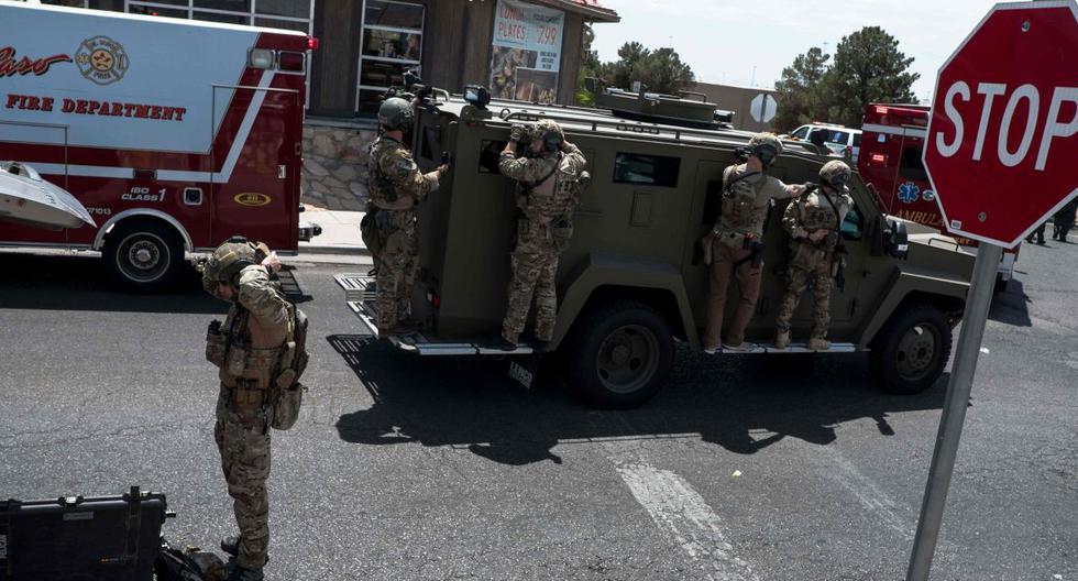 Imagen referencial. Las fuerzas del orden responden a un tiroteo en Texas, Estados Unidos. (AFP / Joel Angel Juarez).
