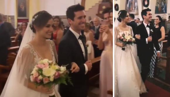 Jesús Alzamora y María Paz González Vigil se casaron por religioso (Foto: Captura de pantalla en Instagram)