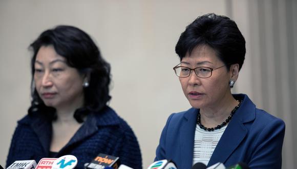Carrie Lam, efa del gobierno de Hong Kong. (Foto: EFE)