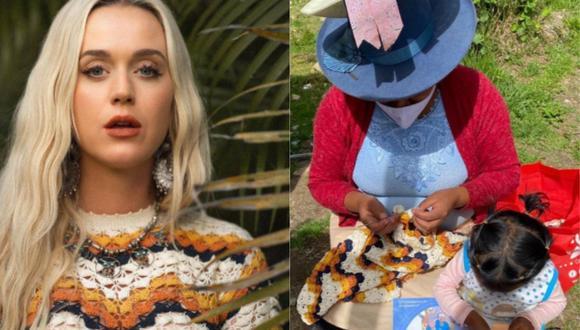 Katy Perry utilizó un vestido tejido por una artesana de Huaraz, Perú. (Foto: @escvdo)