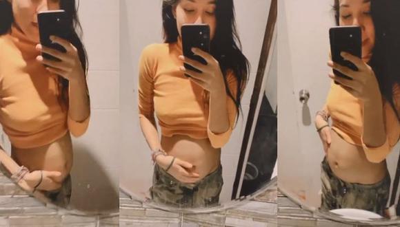 Samahara Lobatón muestra por primera vez su 'pancita' tras confirmar que está embarazada. (Foto: Captura de video)