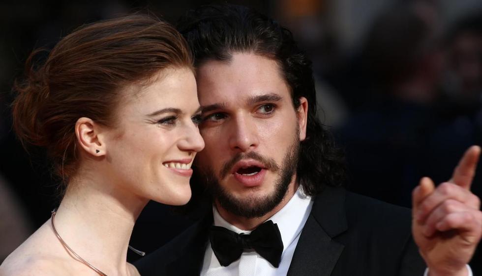 Kit Harington y Rose Leslie, ambos actores de 'Game of Thrones', mantienen una de las parejas más felices de Hollywood. (Foto: EFE)