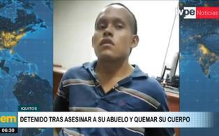 Iquitos: nieto asesina a su abuelo porque no quiso prestarle dinero para comprar drogas