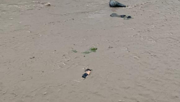 Cuerpo encontrado en el Río Rímac. (Twitter/@soybendechu)