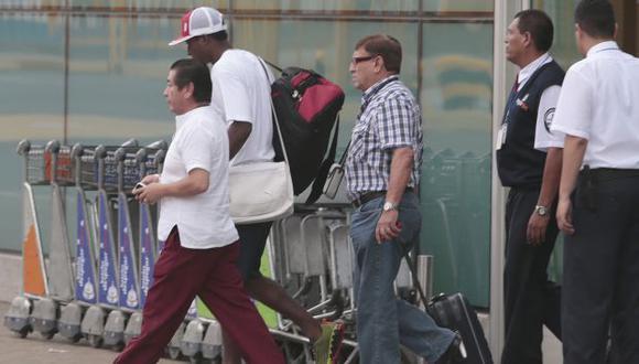 'MUDO'. La llegada de Max Barrios generó expectativa, pero el jugador prefirió no hablar. (César Fajardo)