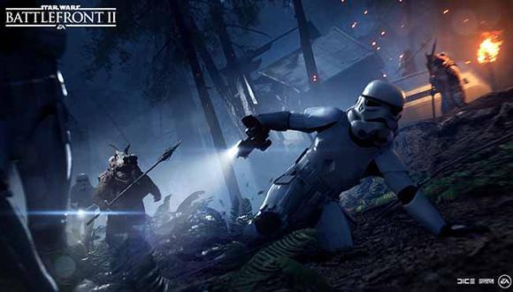 Ahora, encarnando un escuadrón imperial, deberemos soportar el embate de los pequeños Ewoks.