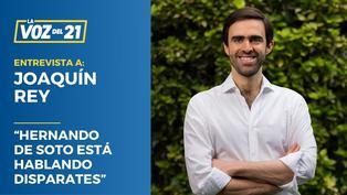 Candidato Joaquín Rey sobre salud de George Forsyth