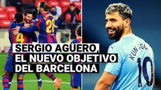 Sergio Agüero entró en la agenda del Barcelona como posible fichaje para 2021