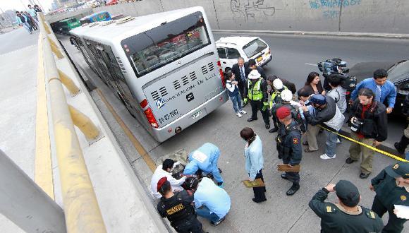 El último miércoles un bus del Metropolitano atropelló a un peatón imprudente. (Andina)