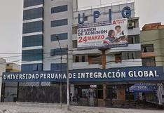 Sunedu denegó licencia a la Universidad Peruana de Integración Global