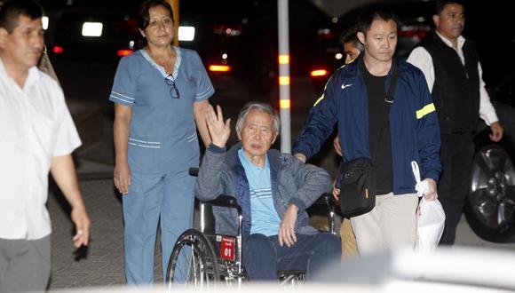 El ex presidente Alberto Fujimori fue internado en una clínica luego que el Poder Judicial declarara como nulo el indulto humanitario a su favor. (Foto: USI)