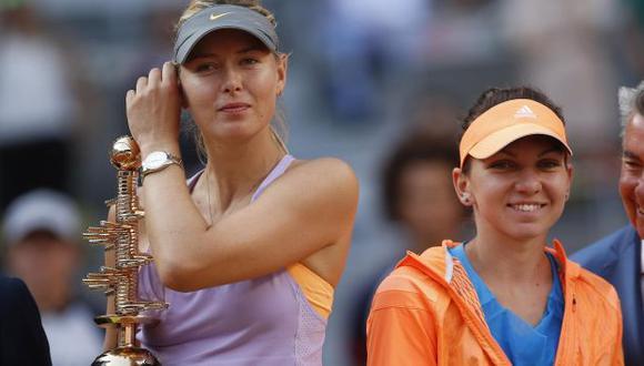 María Sharapova y Simona Halep ya se enfrentaron en final de Abierto de Madrid. (Reuters)
