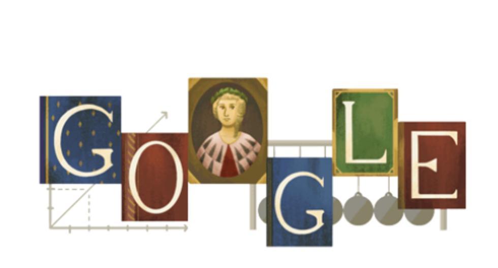 Google homenajea con doodle a la italiana Laura Bassi. (Captura/Google).