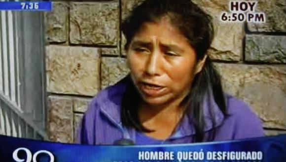 DENUNCIA. Sobrina del agricultor pide que se haga justicia. (Imagen de TV)