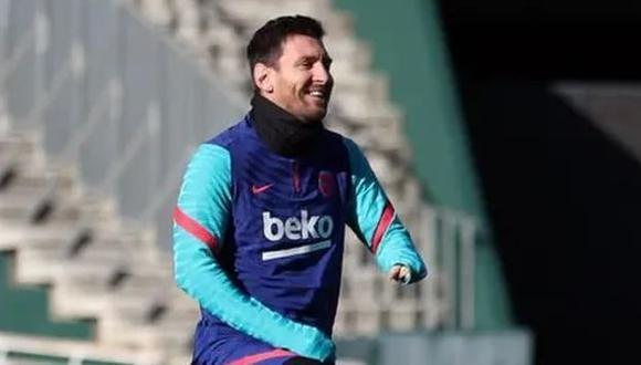 Lionel Messi tiene 4 goles con camiseta del Barcelona, en lo que va del 2021. (Foto: FC Barcelona)