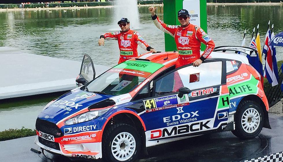 Nicolás Fuchs quedó en el segundo lugar del WRC2 de México. (Difusión)