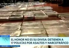 Detienen a 17 policías por narcotráfico y asalto