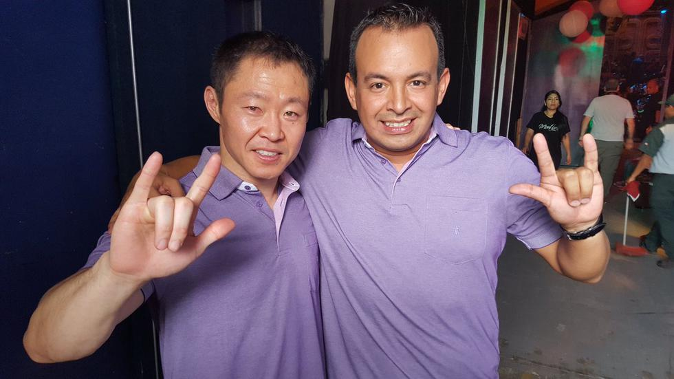 Kenji Fujimori y Daniel Urbina, en el año 2015. (Twitter Kenji Fujimori)