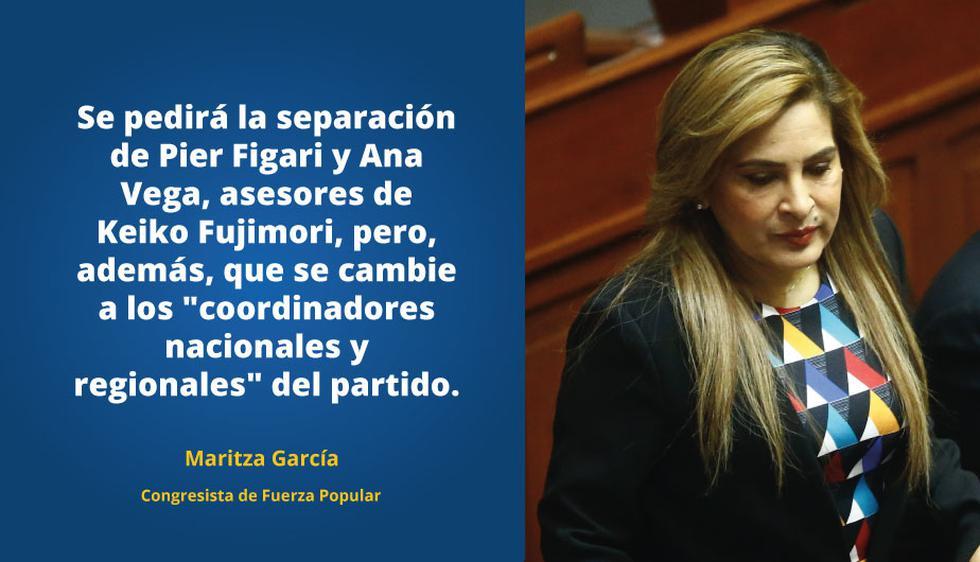 Maritza García adelantó planteamiento a FP del bloque de Kenji Fujimori.
