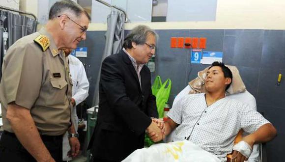 Ascienden al policía que resultó herido al intentar frustar asalto en Polvos Azules. (Difusión)