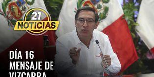Coronavirus en Perú: Mensaje del Presidente Vizcarra en día 16 de cuarentena nacional
