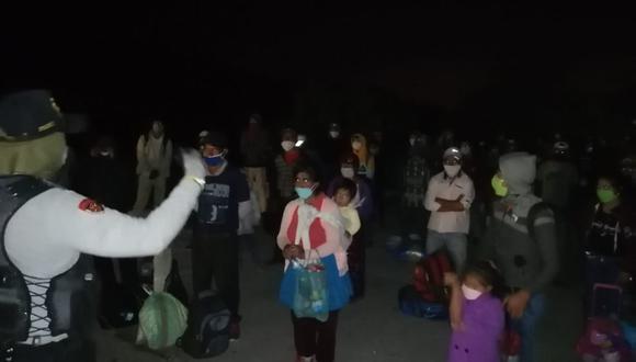 Cajamarca. Todos pasaron por un control de descarte de Covid-19. (PNP)
