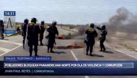 Los pobladores de Barranca exigen la instalación de una mesa de diálogo con los sectores organizados para plantear cambios dentro de la Policía Nacional y en otras entidades (Foto: Canal N)