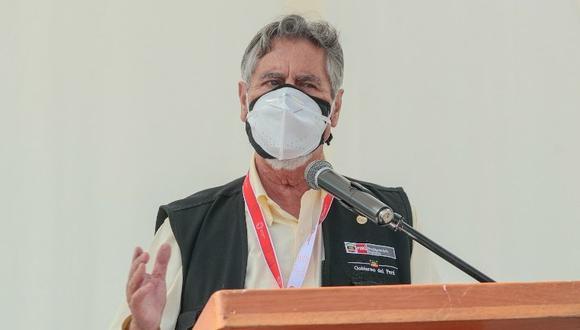 El mandatario Francisco Sagasti afronta una moción de censura en su contra en su calidad de titular del Congreso. (Foto: Presidencia)