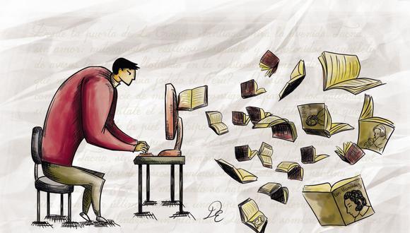 """""""¿Se lee por gusto, es decir, dicho en peruano, 'para perder el tiempo'? La lectura nos permite precisamente entender mejor este mundo y nuestras circunstancias"""", expresa el periodista Jaime Cabrera."""