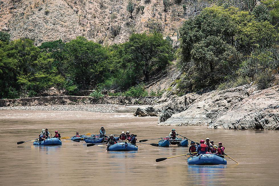 Aventura en el marañón. Deportes como la balsa y el canotaje se lucen en los rápidos de este río. (USI)