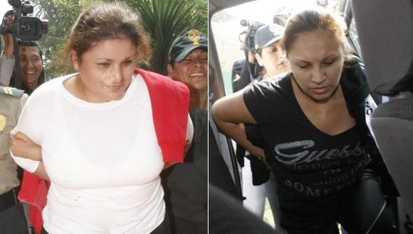 Olga Meza y Yeny Gamarra fueron intervenidas en octubre pasado cuando pretendían hacer pasar más de S/.2,000 falsos. (USI)