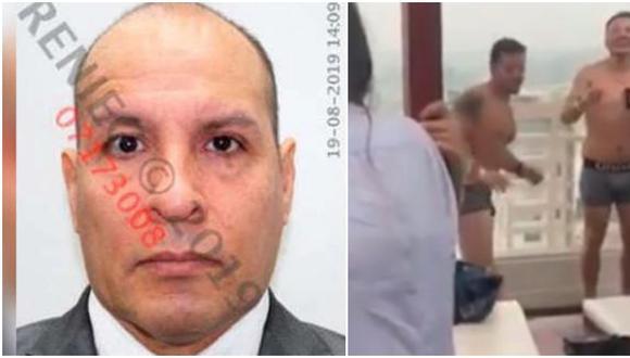 """Adolfo Bazán: salen a la luz grabaciones del abogado en ropa interior en una de sus """"fiestas del terror""""."""