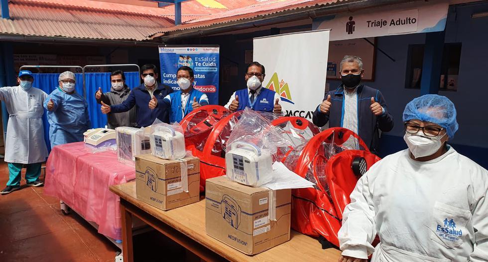 Minera Antapaccay donó nuevos equipos biomédicos a Hospital de Espinar en Cusco para luchar contra el COVID-19