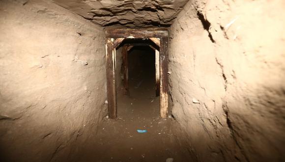 INPE reveló que el túnel hallado cerca del penal Miguel Castro Castro, en San Juan de Lurigancho, habría sido construido sobre la base de otro ya existente. (Foto: Jesús Saucedo / @photo.gec)