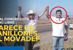 Virtual congresista de Perú Libre en los planillones del Movadef