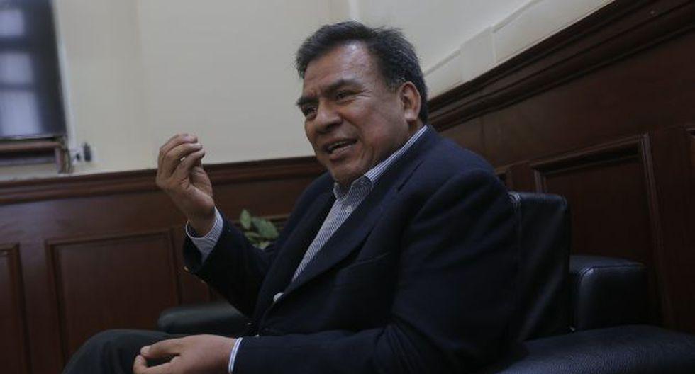 Javier Velásquez afirmó que deben darse los recursos que necesita la Contraloría. (David Huamaní)